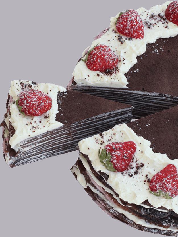 bezlaktózová torta s palacinkami a ovocím