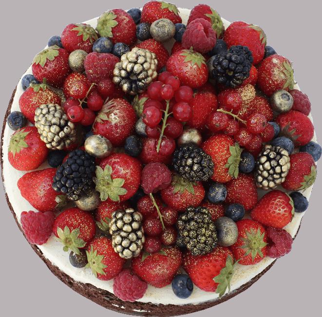 bezlepková torta so zlatým ovocím
