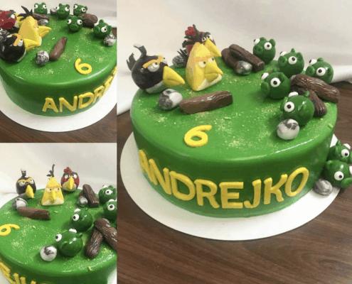 Detská torta súboj angry birds