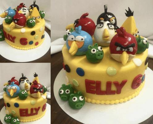 Detská torta s postavičkami angry birds