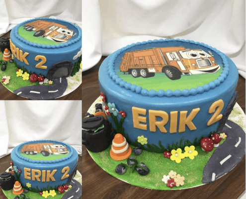 Detská torta s jedlým obrázkom auta