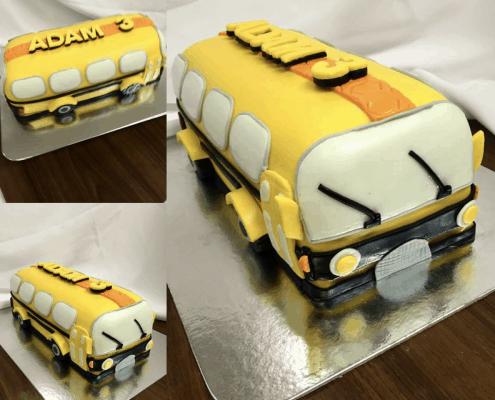 Narodeninová torta v tvare autobusu