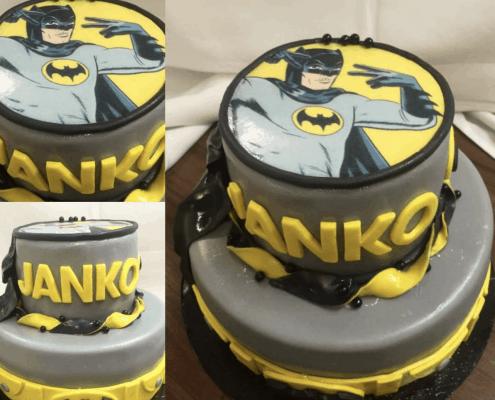 Detská torta s motívom batmana