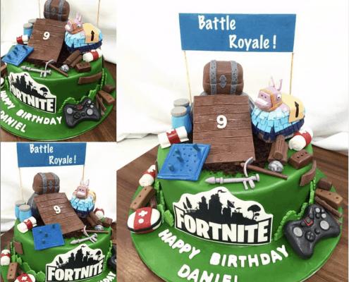 Detská torta battle royal s modelovanými postavami