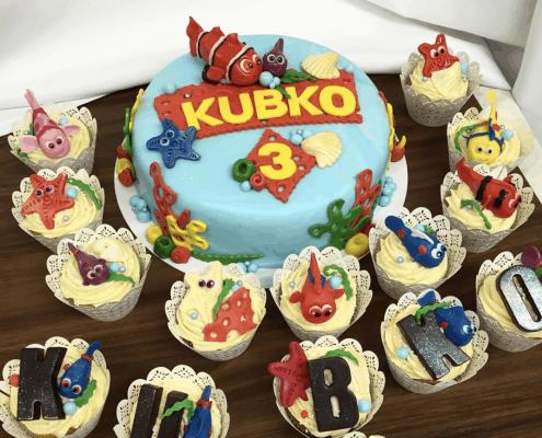 Detská torta s nemom a rybičkami