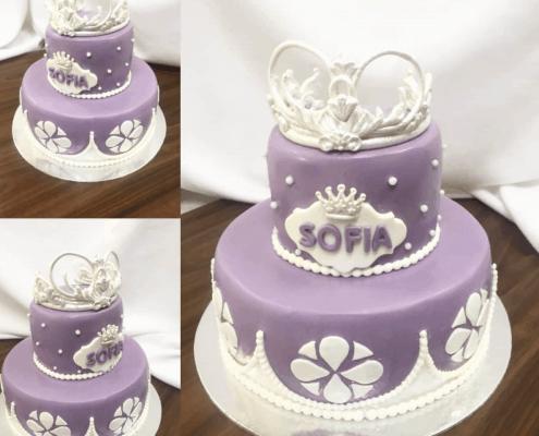 Detská torta pre princeznú s korunkou