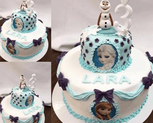 Detská torta frozen s olafou na vrchu