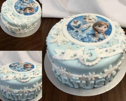Detská torta frozen s elzou a annou
