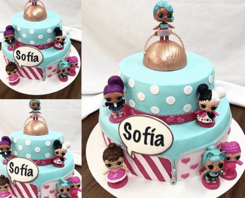 Detská torta s bábikami lol