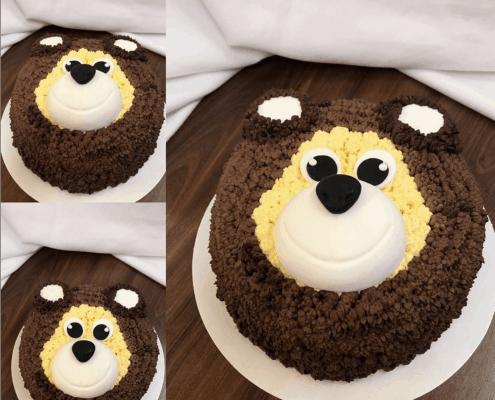 Detská torta z krémovým mackom z maslového krému