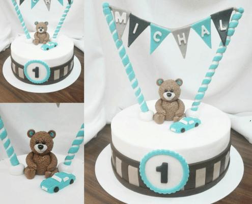 Detská torta festival s macíkom