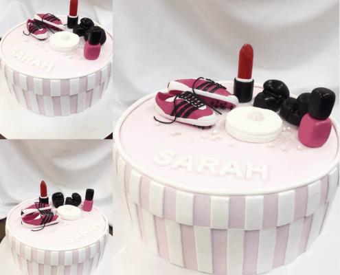 Detská torta s malovátkami a make-upom a teniskami