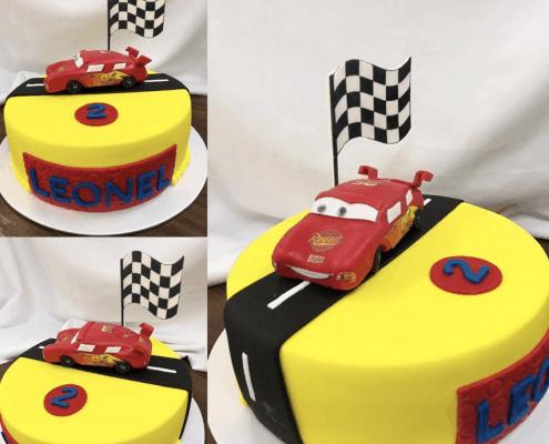 Detská torta z rozprávky autá s postavičkou mcQueen
