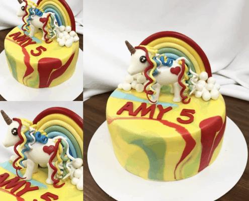 My little pony torta mramorová červeno žltá