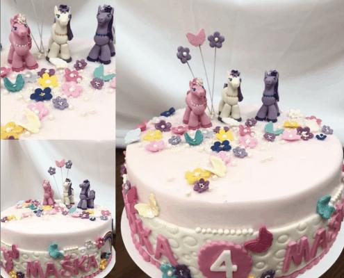 Poníková torta my little pony s kvietkami