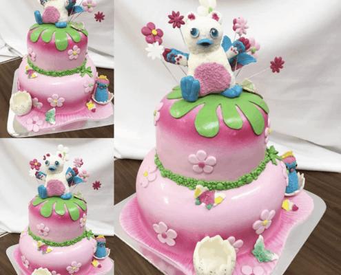 Velká detská torta s postavičkami medveďa