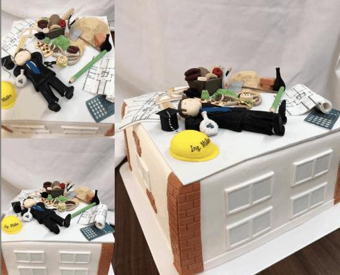 Stavbárska detská torta plnená belgickou čokoládou