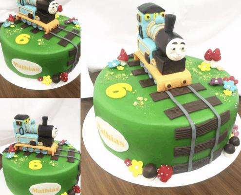 Torta plnená čokoládou s motívom Thomas vláčik