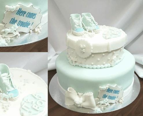 Detské chlapčenské torta s converse topánočkami na krst