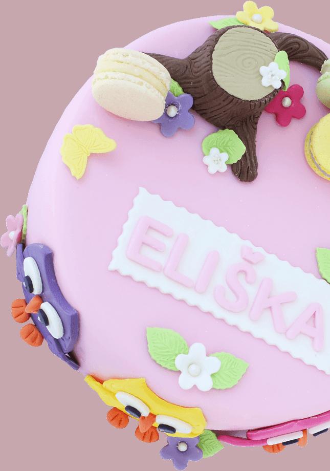 Ružová torta pre deti