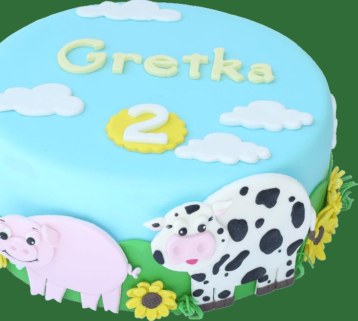 torta na detskú oslavu farmárska
