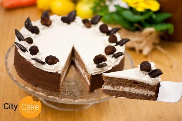 Bezlepková gaštanová torta s domácimi trufles