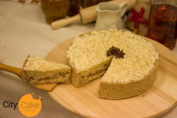 Jablkový cheesecake s domácou mrveničkou