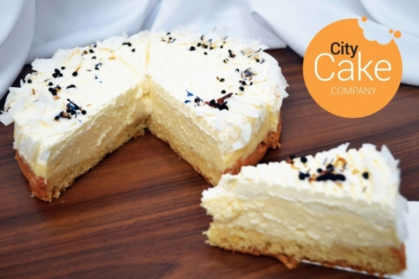 ľahučký kokosový cheesecake