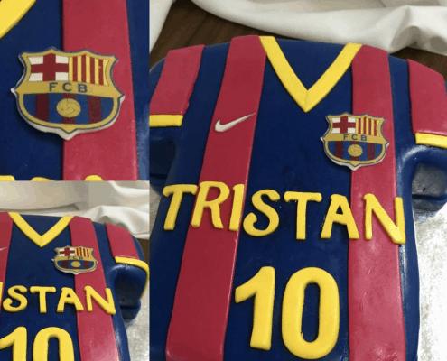 Narodeninová torta futbalový dres barcelona