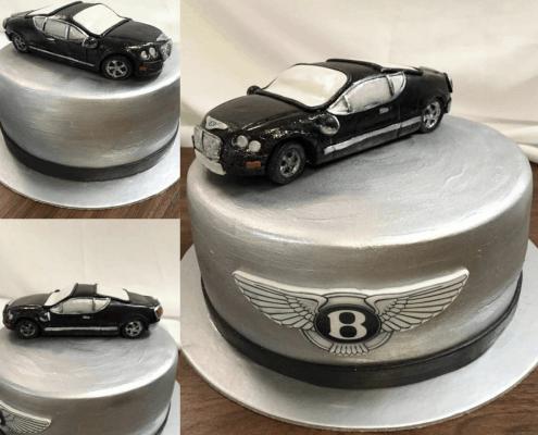 Narodeninová torta s 3D autom bentley
