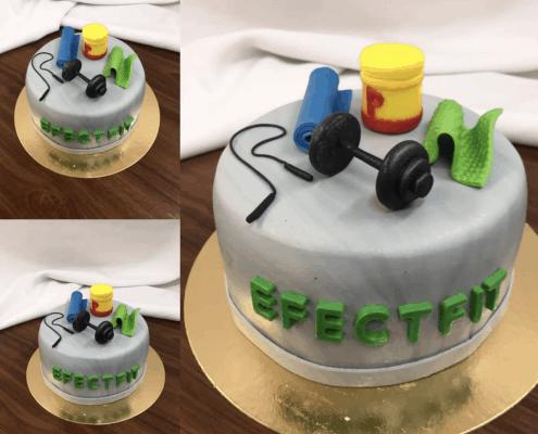 Narodeninová torta s činkami