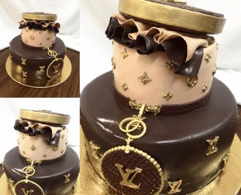 Narodeninová torta s motívom louis viutton