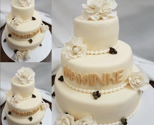 Narodeninová torta pre maminku v smotanovej kombinácii