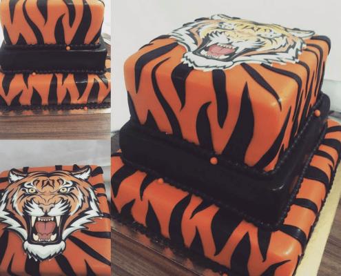 Narodeninová torta s motívom tigra