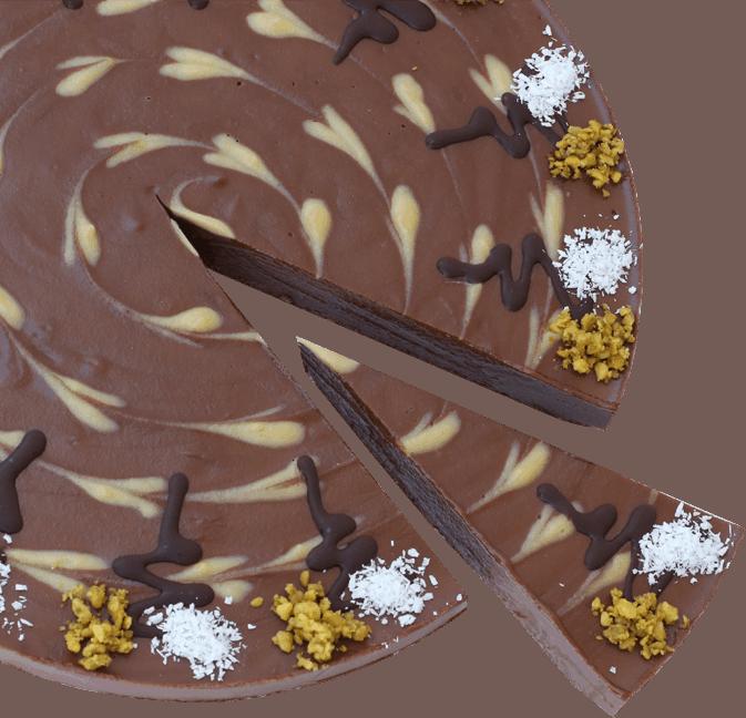Čokoládova raw torta s banánom