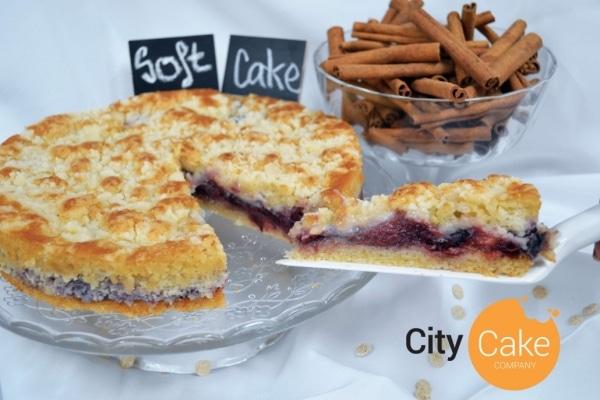 Domáci slivkový soft cake s mrveničkou