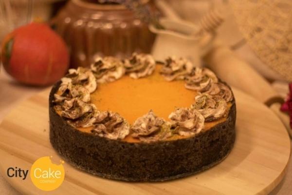Tekvicový cheesecake s čokoládou