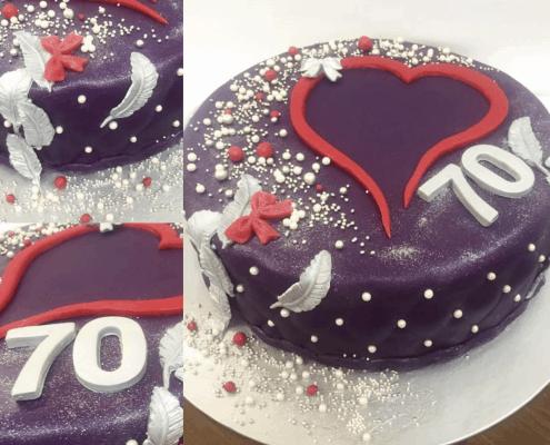 Marodeninová torta so rdiečkom a perličkami