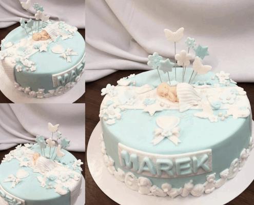Torta pre chlapca na krst so zápichmi