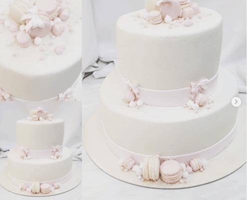 Torta na krst pre dievčatko z pravého marcipánu