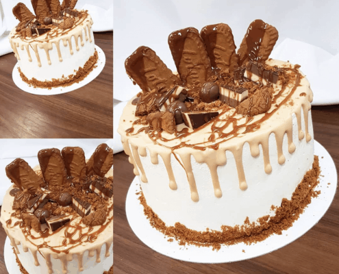 Narodeninová torta s karamelom a keksíkmi lotus