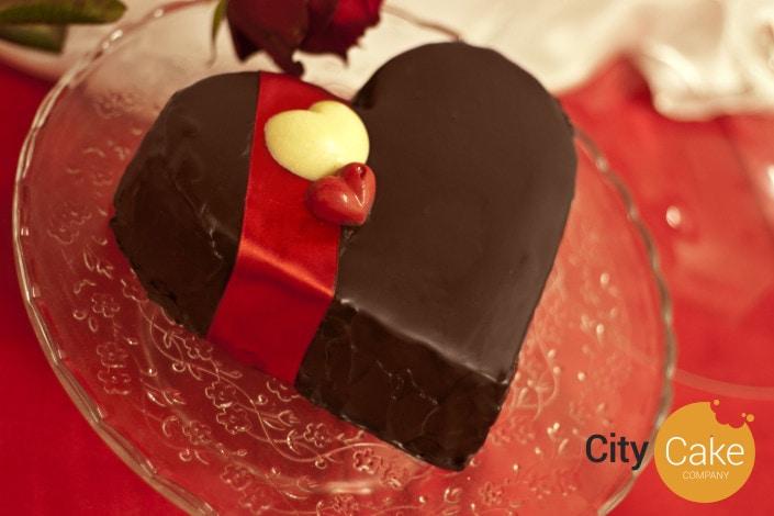 Valentínske srdiečko z čokolády
