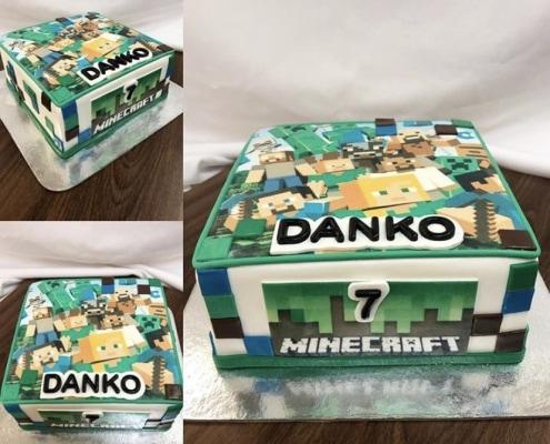 Detská torta s postavami minecraft